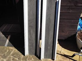 pair of alluminium extendable car ramps,fold down to 3ft extend to 6ft.
