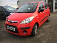 Hyundai i10 1.2 Classic 5dr low mileage £30 12 Months Tax LOW MILEAGE (red) 2009