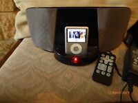 Music station for iPod shuffle portable with charger & handbook