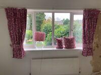 Laura Ashley - Curtains, tie backs, cushion and lamp