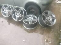 "Mercedes Benz c63 E63 Replica 5 triple spoke 19"" set of 4 Alloy wheels 8.5 x 19 ET42 Z8437"