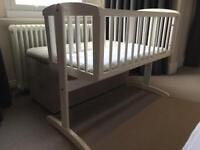 Rocking wooden crib from Mothercare