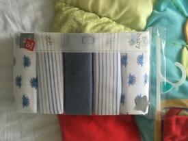 9-12 months brand new pack of boys baby vests