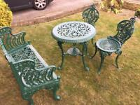 Cast iron garden set ( all new )