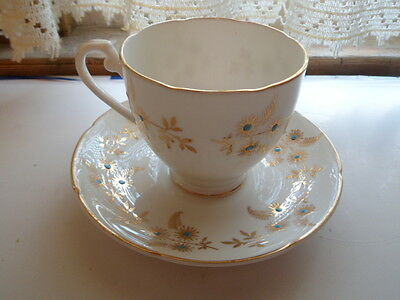 Mint Royal Grafton Gold and Raised Enamel pattern  Cup & Saucer Set