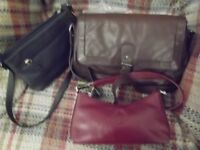 3 Leather handbags in very good condition, Laura Ashley, Smith & Canova and one other