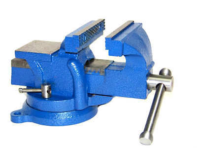 Heavy Duty 4 Bench Vise With Anvil Swivel Locking Base Table Top