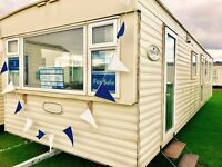 3 bed static caravan for sale open 12 months at sandy bay on northumberland coast low site fees