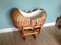 Mothercare Moses basket pod wicker