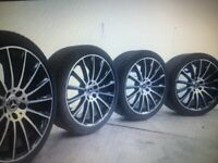 """WANTED 20"""" S CLASS 350 2011 MERCEDES ALLOY WHEELS AND TYRES"""