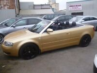 Audi A4 Sport Cabriolet Auto,2976 cc Convertible,FSH,black leather heated interior,black alloys,