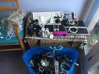 Assorted cables, adaptors, keyboards etc