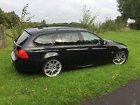 BMW 320 Diesel. Sat Nav, Auto, Full black leather, Parking sensors, Privacy glass. New tyres, brakes