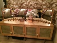 Sideboard for sale Mirror optional for extra cost has a mid shelf in each cupboard lots of storage