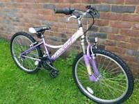 Girls falcon mountain bike 24inch wheels