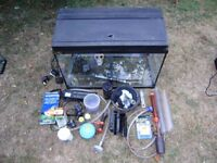 Fish tank , good condition, includes accessories