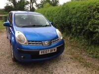 Nissan Note 1.4 5Dr Blue Metallic MOT - APR 19 Excellent Condition