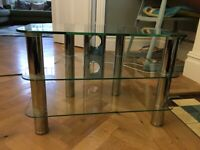 Solid Glass TV Stand for sale