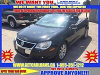 2008 Volkswagen Eos Lux*CONVERTIBLE*LEATHER*ROOF*HEATED SEATS &