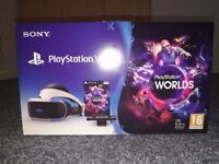 Almost brand new PS VR Headset bundle + move controllers + extras