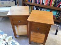 Beautiful M&S Hastings oak veneer Bed side Tables