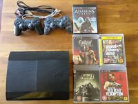 PS3 - PlayStation 3 SuperSlim 500GB with 2 controllers & game bundle