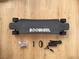 USED KOOWHEEL D3M LONGBOARD ELECTRIC SKATEBOARD DUAL BRUSHLESS HUB MOTORS NEW REMOTE