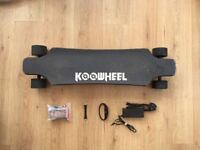 USED KOOWHEEL D3M LONGBOARD ELECTRIC SKATEBOARD DUAL BRUSHLESS HUB MOTORS NEW REMOTE