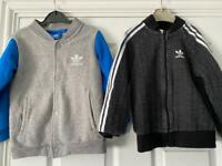 2 adidas jackets