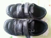 Black Clarks school shoes 12.5 G
