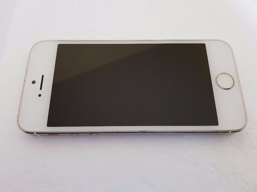 Apple iPhone 5s 16GB Gold Unlocked in reasonable condition with Fingerprint Sensor Fault