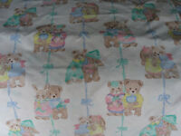 Cot Bedding Set and Matching Curtains