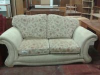 Floral pattern 2 seater lounge sofa