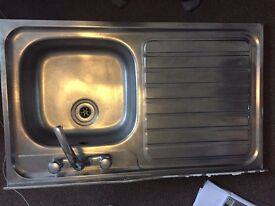 Free - Kitchen Sink with Tap & Drainer