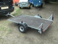 VERY NICE 6-6 X 4 FLATBED TRAILER...
