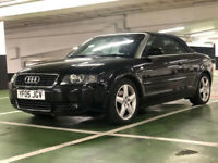AUDI A4 CONVERTIBLE TURBO V6,LOW MILES, HPI CLEAR, VERY CLEAN, ULEZ EXZEMPT, FSH, 2 F owners