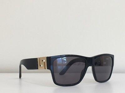 46381519dd Versace MOD 4296 GB1 81 Rectangle Black Gray Gold Polarized Sunglasses 59-16 -
