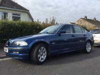 £495 ono. BMW 320I SE, 2001, 2ltr, DARK BLUE, PETROL.