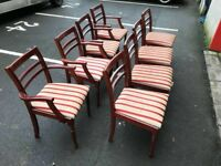 8 Mahogany Chairs (@07519500790)