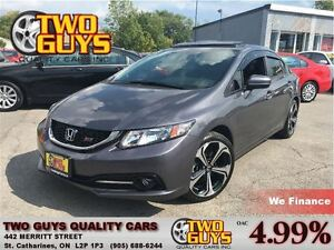 2015 Honda Civic HOT ROD SI NAVIGATION ROOF 205HP STICK RED SEAT