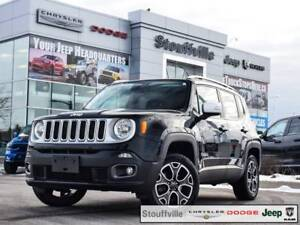 2016 Jeep Renegade Limited 4X4, Navi, MY SKY, Only 59,000 KMS