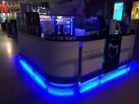 KIOSK / MALL UNIT FOR SALE RETAIL POP UP SHOP WITH LED LIGHTS