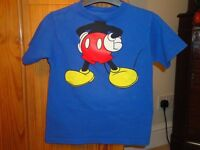 Mickey Mouse T Shirt - Size Small - Will fit 5/6 Yr Old