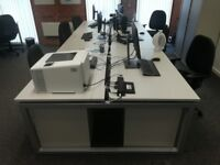 Large office desk sets