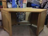 Solid oak corner desk £100 ono