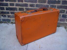FREE DELIVERY Vintage Leather Suitcase Mid Century Retro