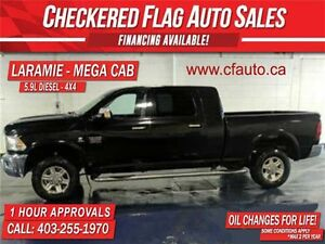 2010 Dodge Ram 3500 Laramie DIESEL-MEGA CAB-4x4-NAVI-DVD-ROOF-LE