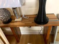 hardwood console table