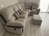 La-Z Boy Nervada Corner Sofa + Footstool