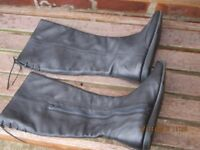 Ladies Clarks Black Leather Boots.